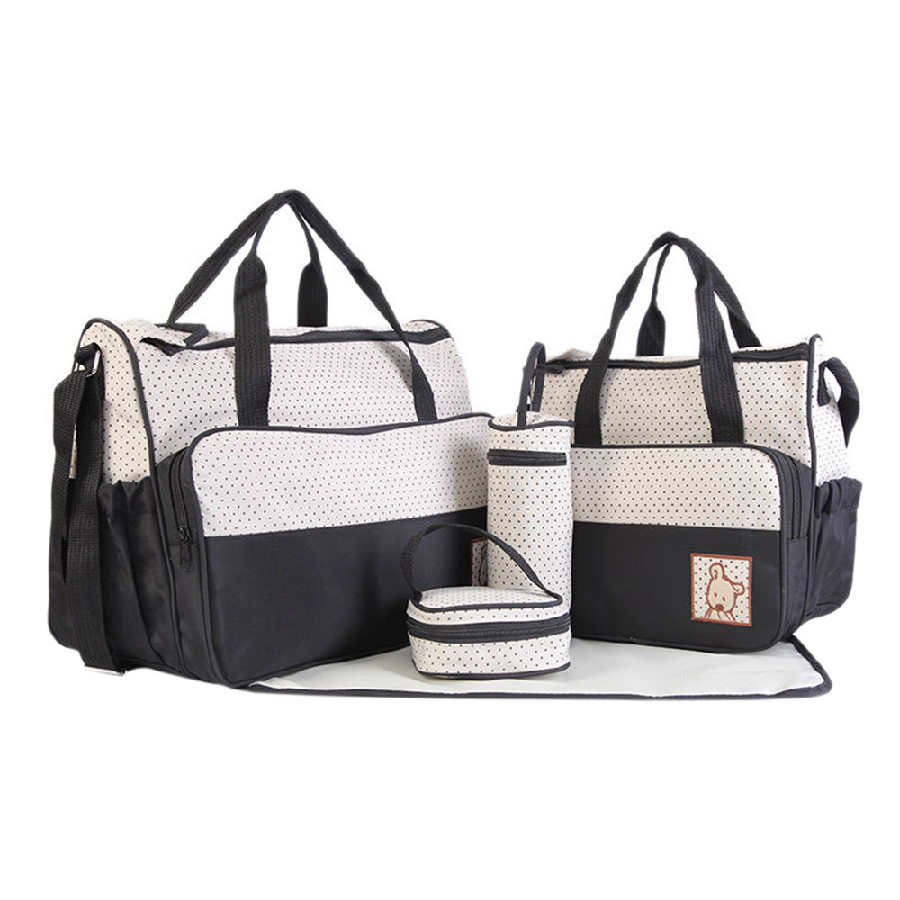 Lower Price with Hiinst Fashion 5pcs Baby Dot Nappy Changing Bags Set Mummy Waterproof Diaper Hospital Bag Healthcare Kits A# Dropship Grooming & Healthcare Kits