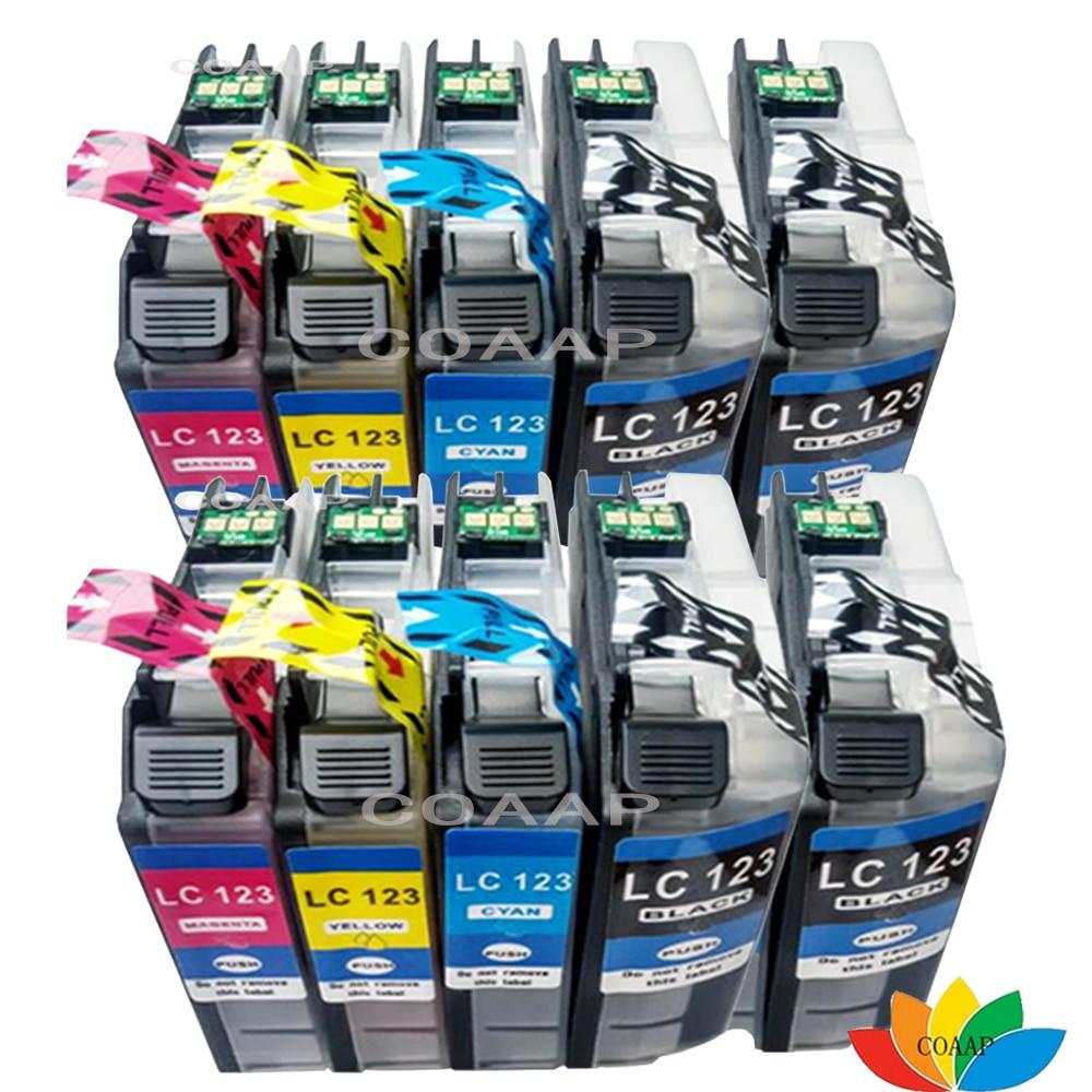 10 Совместимость LC127BK LC127C LC127M LC127Y чернильные картриджи для Brother DCP-J4110DW DCP-J552DW DCP-J752DW DCP-J132W DCP-J152W