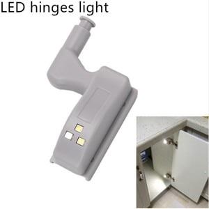 Image 2 - Hot Sale Under Cabinet LED Hinge Light Universal Kitchen Bedroom Living Room Cupboard Wardrobe Inner Auto Switch Light 10pcs