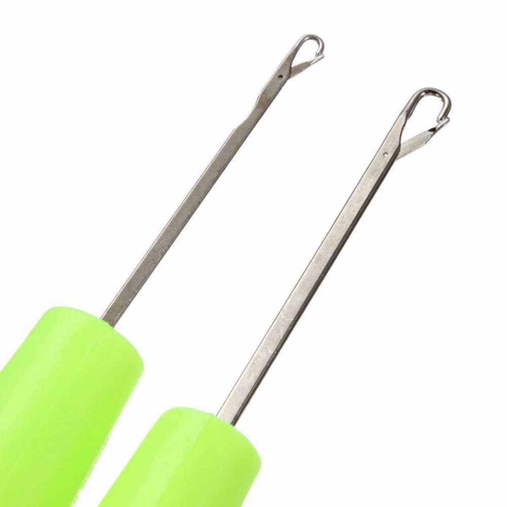 Hoge Kwaliteit TPR Handvat Aluminium Breinaalden Voor Moeder Geschenken Haaknaald Ergonomische Grip Sharp Haaknaald
