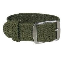 1 pcs Esporte Exército Verde Pulseira Preto Branco Cores Trópico Tecido Nylon Perlon Banda Strap PULSEIRA 20mm 22mm