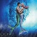 2016 NEW Ariel Mermaid Tails Kids Adult Women Swimsuit Sparkle Mermaid Tail Monofin Filpper Swimmable Wear Custom Made