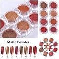 1.5 g/caja de Uñas Mate Polvo de Oro Rojo Serie Nail Art Glitter Polvo Del Polvo de Uñas de Manicura Del Arte Del Polvo Del Brillo Decoración 8 colores
