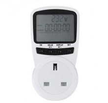 New UK Plug Socket Energy Meter Electricity Watt Voltage Amps Usage Frequency Monitor Analyzer Power Manage настенный светодиодный светильник ideal lux vela ap1 alluminio