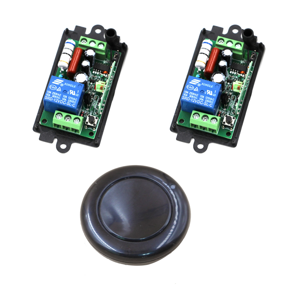 AC 110V Wireless Remote Control light Switch 220V 10A Relay Transmitter Radio Light Switch System Learning Code 315/433Mhz ac 220v 10a wireless remote control switch 1ch relay receiver module wall transmitter radio light switch fixed code 315 433mhz