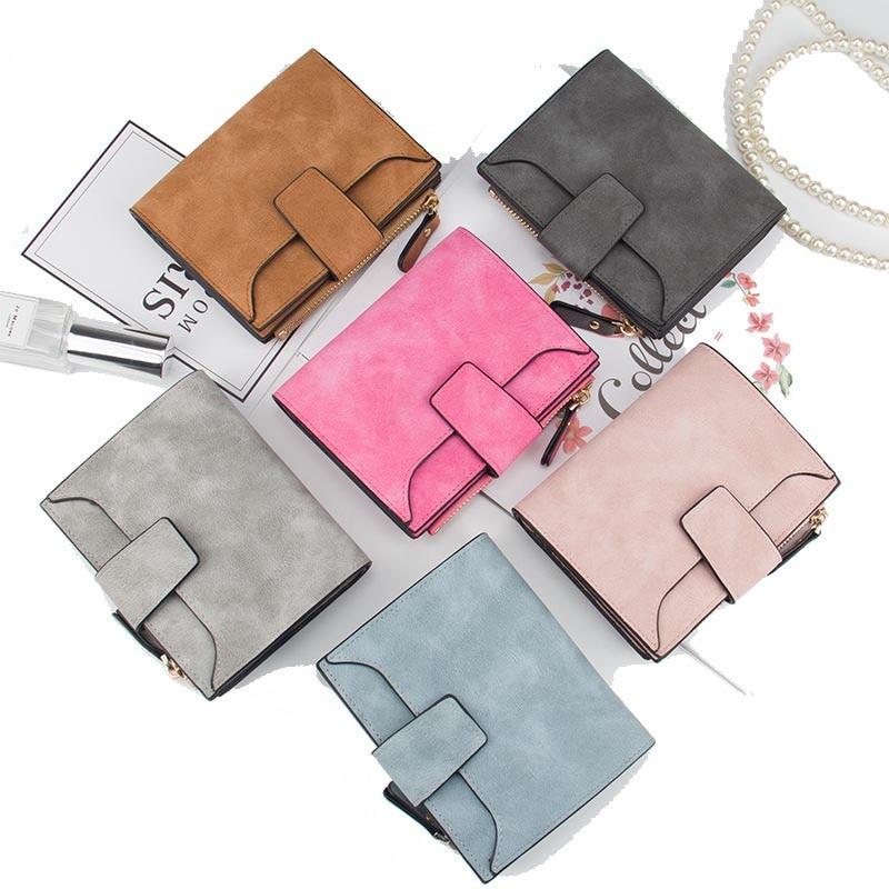 Baellerry Luxury Short Womens Cute Zipper Coin Pocket Trifold Wallet Leather Women Card Holder Clutch Hasp Ladies Purse W105 2