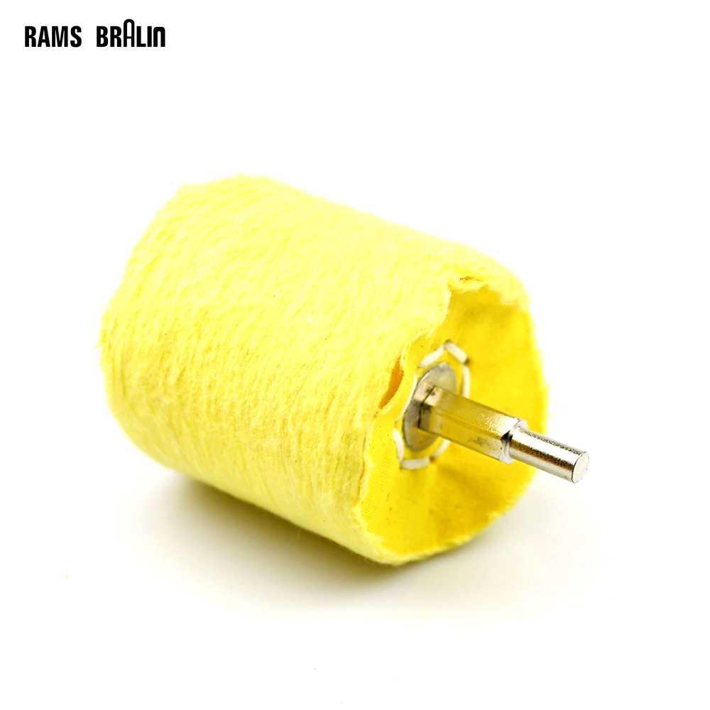 Мм 6 мм вал установлен цилиндр полировка Полировальный круг для дерева Стекло полировки металла дрель роторный Мощность Инструмент
