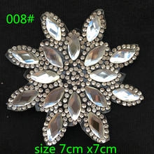 1pc/lot Crystal flower Patches Motif Hotfix Rhinestone Applique for clothes/bag/shoes