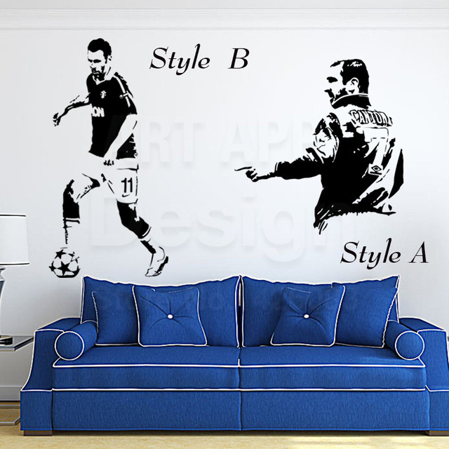 Art New Designs Vinyl Home Decoration Football Eric Cantona Wall Stickers Colorful House Decor Soccer Sports