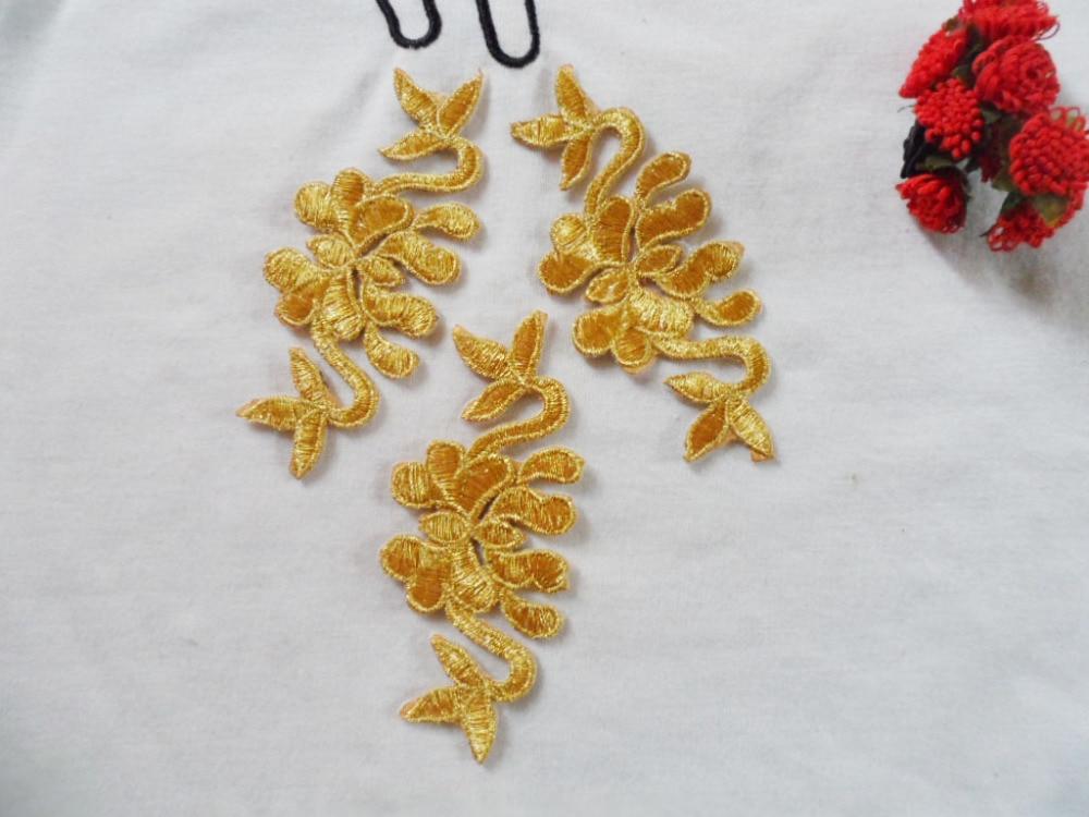 ᓂBordado hilo de oro bordado pasta decoración de hierro oro paño ...