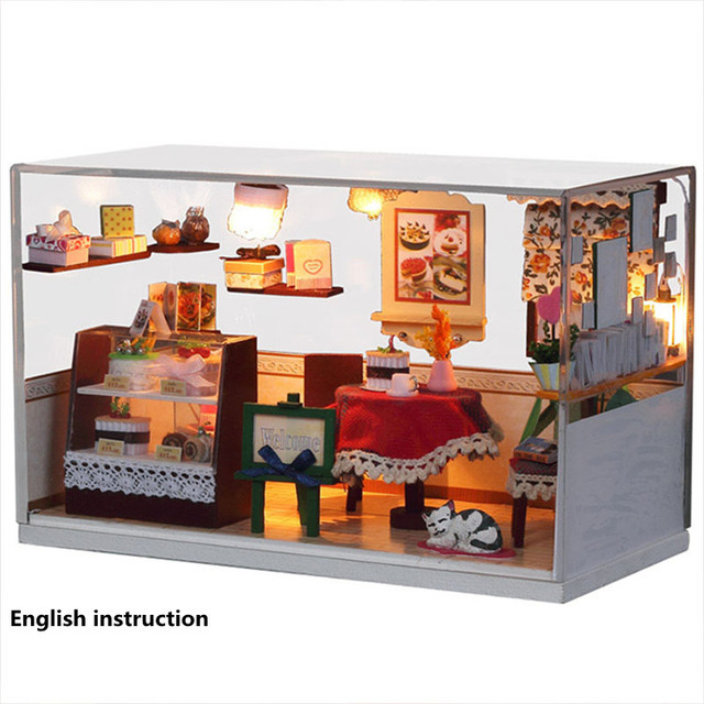 G001 DIY Wooden Dolls house Miniatures Dollhouse 3D Handmade Romantic  English instruction&Furniture X'mas Gift