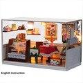 G001 DIY de madeira Dolls house Miniatures Dollhouse 3D artesanal romântico instrução inglês e móveis X'mas presente