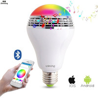 E27 Smart RGB RGBW Wireless Bluetooth Speaker Bulb Music Playing Dimmable LED Bulb Light Lamp APP Remote Control 10W AC110 240V