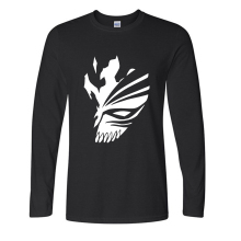 BLEACH Printed long sleeve cotton casual Men T Shirt