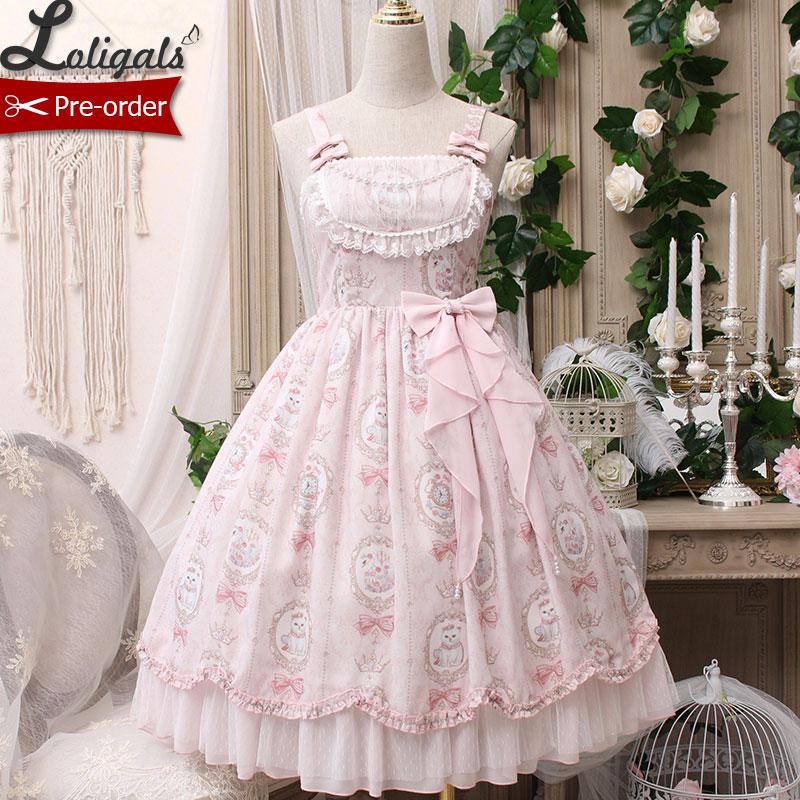 Kotek w rama ~ słodkie drukowane bez rękawów na co dzień sukienka Lolita przez Alice Girl ~ zamów w przedsprzedaży w Suknie od Odzież damska na  Grupa 1