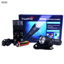 Scuba Diving Flashlight Cree XM-L2 LED 900 Lumens 26650 Dive Torch Super Hight Light