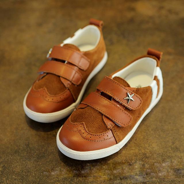 Moda estilo retro calçados infantis meninos sapatos casuais meninos sapatos único lazer novo estilo crianças sapatos de couro