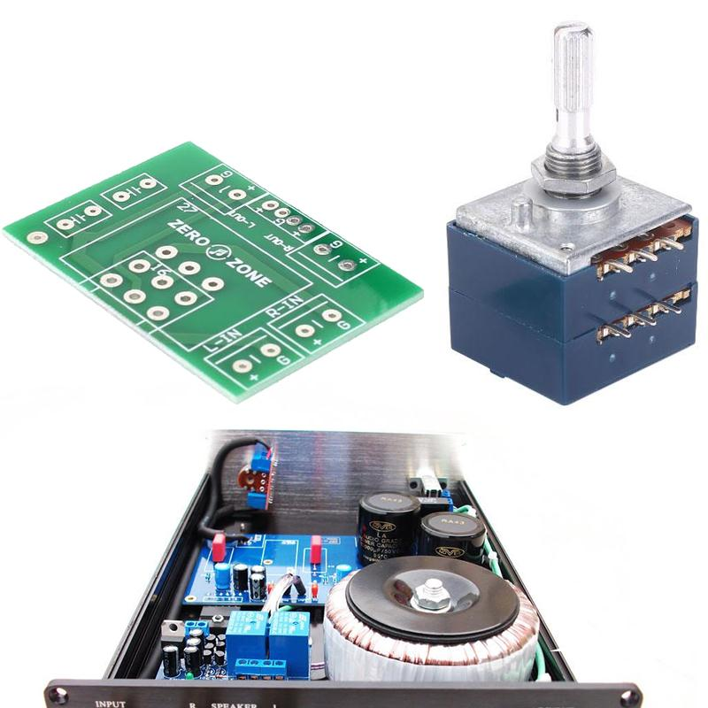 Cewaal 27 Stereo Linear Splined Potentiometer RK27 50KA Pot Round PCB Board DIY Development Board Module Replacement Parts Tool cewaal new for sim800l gsm gprs sms module kit with antenna for arduino support quad band network diy development board parts