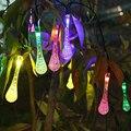 4.8 M 20 LEDs Luzes Da Corda Solares Colorido Gota De Chuva Impermeável Iluminação Do Feriado Do Natal Decoração Do Jardim Ao Ar Livre Lâmpadas de Fadas