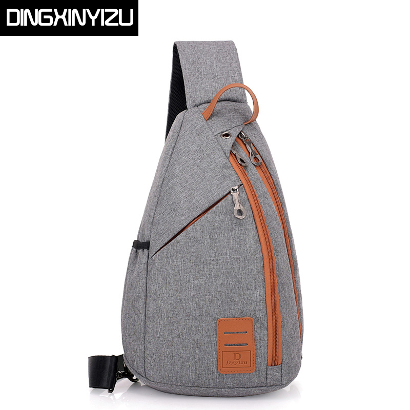 DINGXINYIZU Men Chest Pack Large Capacity Sling Shoulder Bag Multifunction Crossbody Bag for Men Messengers Bag Travel Back Pack kaka large capacity chest bag for men