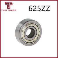 10 Uds miniatura rodamiento rígido de bolas 625ZZ 5*16*5mm para 3D pieza de impresora partes 5x16x5mm 625z 625-zz