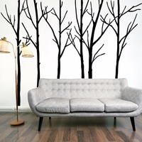 Large 200*288cm Black Family Tree Living Room Home Decor Vinyl 3D Wall Stickers Modern Decoration Stikers Poster Wall Decals Art