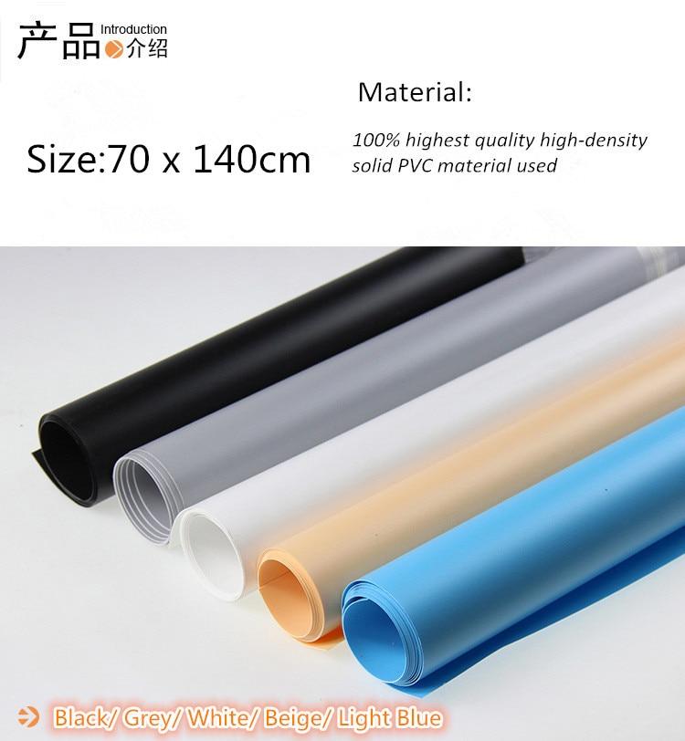 70x140 cm blanc ciel bleu PVC Matériel fond toile de fond Anti-rides pour Photo Studio Photographie Éclairage foto fond