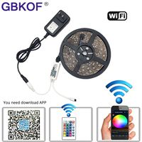 Waterproof 5M 3528 RGB White 300Leds Led Strips Light And 24Key IR Controller And 12V 2A