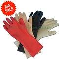 Высочайшее качество 100% чистого латекса перчатки sexy мужская черный резиновый короткие перчатки пять пальцев перчатки один размер
