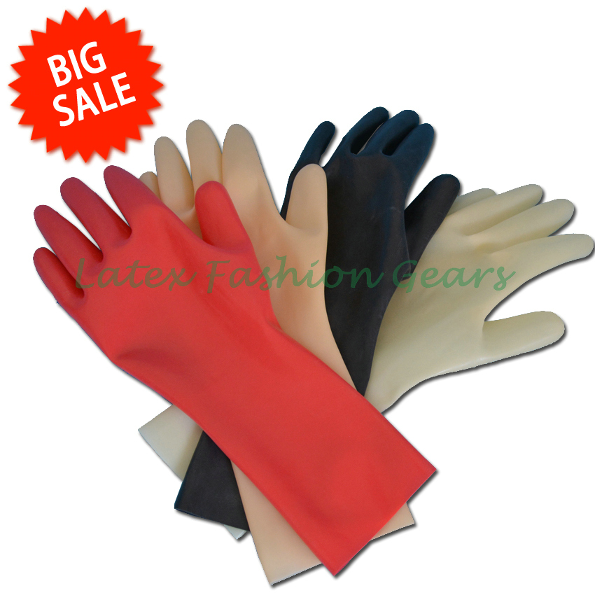 Top Quality 100% Pure Latex Gloves Sexy Unisex Black Rubber Short Gloves Five Finger Gloves One Size
