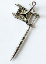 Татуировки ожерелье серебряный тон винтажный стиль 1 шт. мини-тату серебряный новый 2014 татуировки для ювелирных изделий декор
