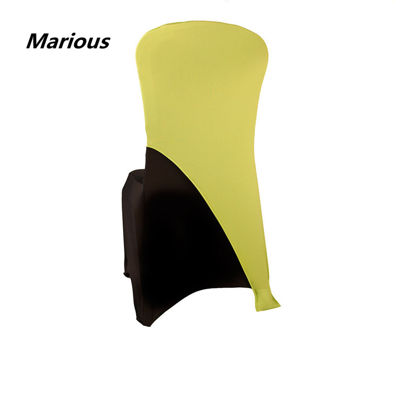 Factory price 100pcs spandex chair hood wedding chair cover sashes event for wedding decor.free shipping