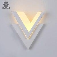 Mantsong Modern LED Wall Lamp Sconce Light For Bed Room Wall Lights AC90 260V LED Wall Light White Indoor Lighting Decoration