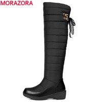 Plus Size 2016 New Winter Russia Keep Warm Women Snow Boots Thick Fur Fashion Platform Down