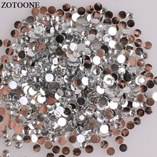 ZOTOONE Flatback Non Hotfix White Rhinestones For Clothes Diy Phone Stones And Crystals Strass Applique Glue On Nail