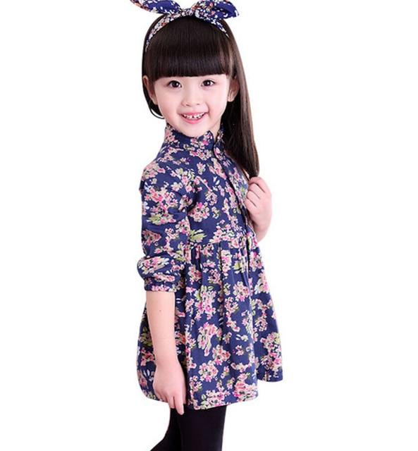 2b219ace6 Moda nuevo 2016 Niñas Ropa niños vestidos para niñas vestido de partido del  bebé niña ropa