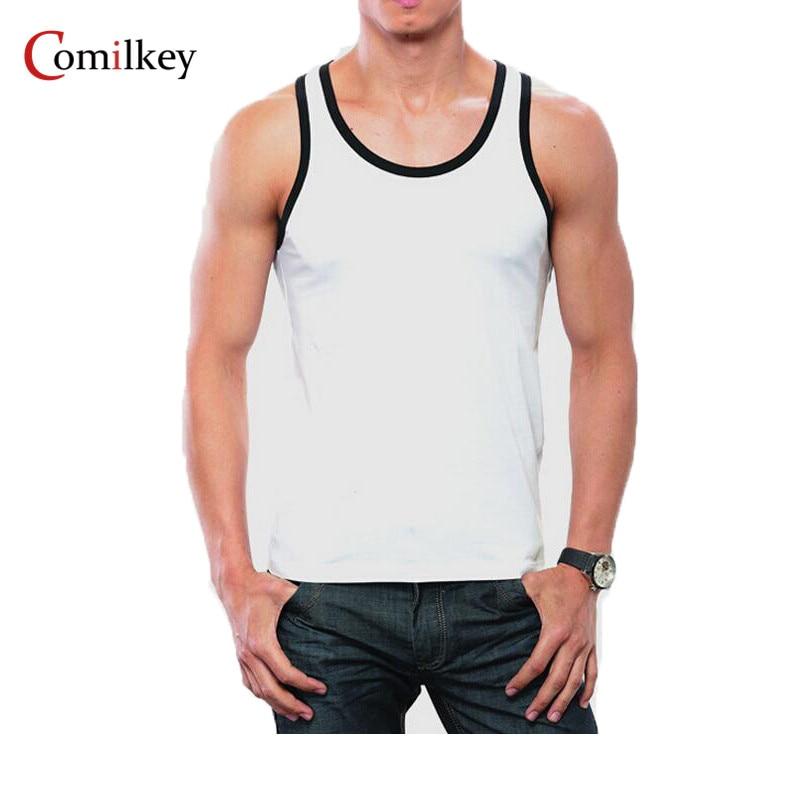 Ropa Casual Chaleco Chaleco sin mangas O-cuello de los hombres Verano de culturismo sin mangas Chaleco Gymclothing gimnasio hombres camisa