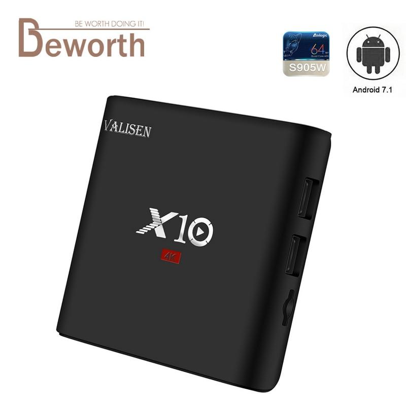 X10 Smart TV Box Android 7.1 2GB 16GB Amlogic S905W Quad Core Wifi 4K Media Player Multi-language Netflix Youtube Google