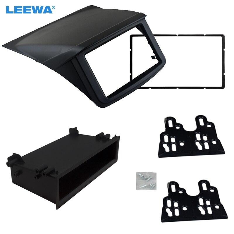 LEEWA 1Din 2Din pour Mitsubishi Pajero Sport Triton L200 Radio DVD stéréo panneau tableau de bord montage kit d'outils pour habillage Face cadre Fascia
