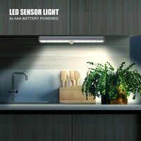 Высокое качество PIR датчик движения шкаф светильник s настенный светильник на батарейках для спальни Ночной светильник шкаф лампа