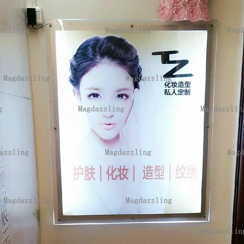 Wall Mount Acrylic Frame Led Illuminated Advertising A2