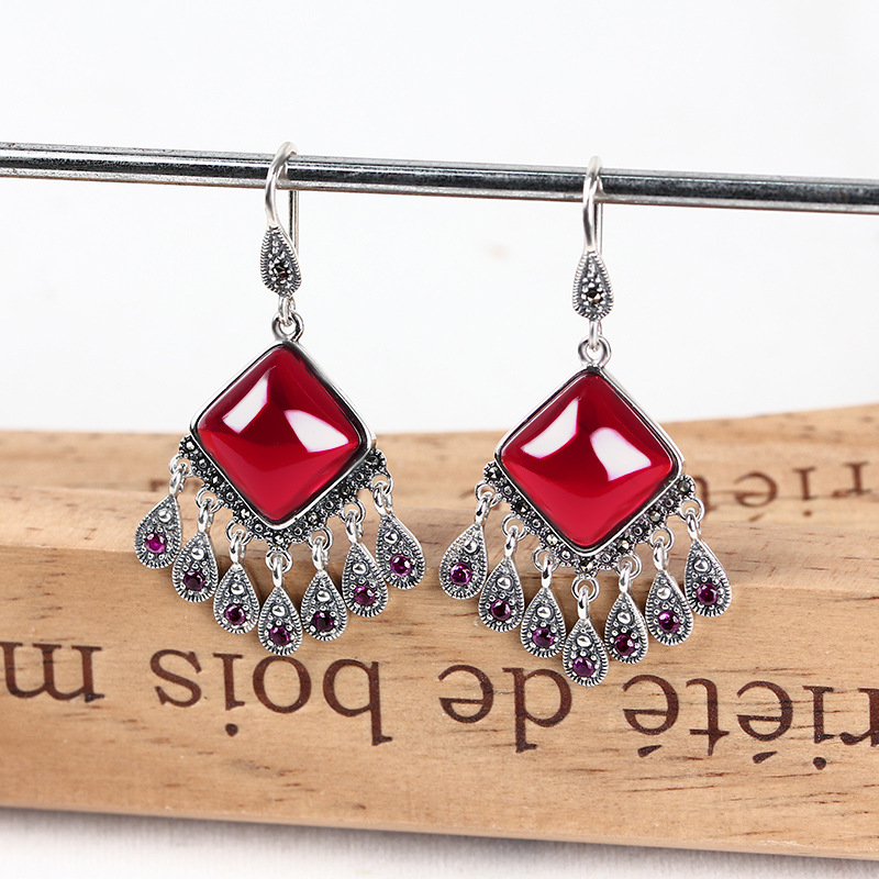 Fashion Jewelry Ethnic Style Earrings Tassel Charm Women Dangle Earrings Birthday Party Ear Hook Jewelry Gift stylish left ear snake style decorative earrings