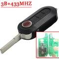 3 Button Remote Key For Fiat Delphin Key PCF7946 Chip 433MHZ