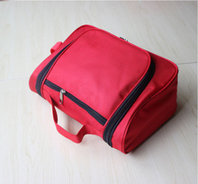 Durable Oxford Material Customized Red Black Blue wash bag travel bag cosmetic bag promotional wash travel bag