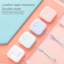 Mini règle rétractable facile ruban à mesurer Mini Portable tirer règle porte clés couleur aléatoire ruban de précision