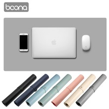 Boona Single Sided PU 120*60cm Laptop Keyboard Pad Mouse Pad Solid Color Non-Slip Water Resistant Gaming Gamer  Desk Pad