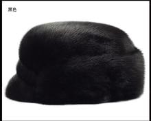 Mink fur hats entire leather caps men warm in winter