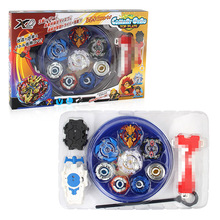 4pcs/set Spin Tops Stadium Arena Toys With Plastic Launcher Metal Fusion 4D Spinning Top Gifts For Kids