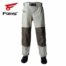 Followers Outside 2-Tone Fly Fishing Waist Waders Sturdy Waterproof trousers Wading Breathable Waist Pants With Stocking Foot