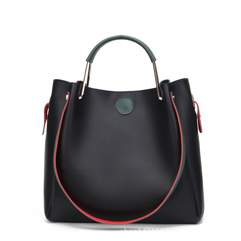 Leather Bags Handbags Women Famous Brands Big Solid Bucket Bag Female Tote Hand Bag Shoulder Crossbody Bags for Women sac a main new genuine leather bags for women famous brand boston messenger bags handbags tassel tote hand bag woman shoulder big bag bolso